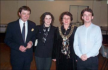Christine Bampton Smith and Consort Elect Dr Michael Smith with their children Adam and Rachel